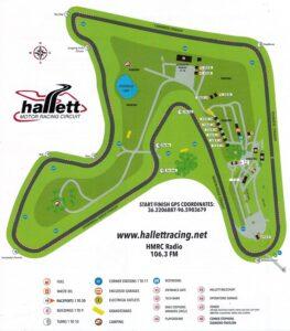 Hallett Track Map